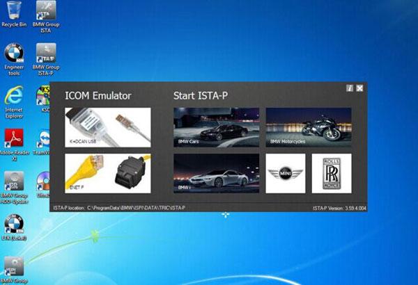 BMW ICOM software ISTAD 40121 ISTAP 3594004