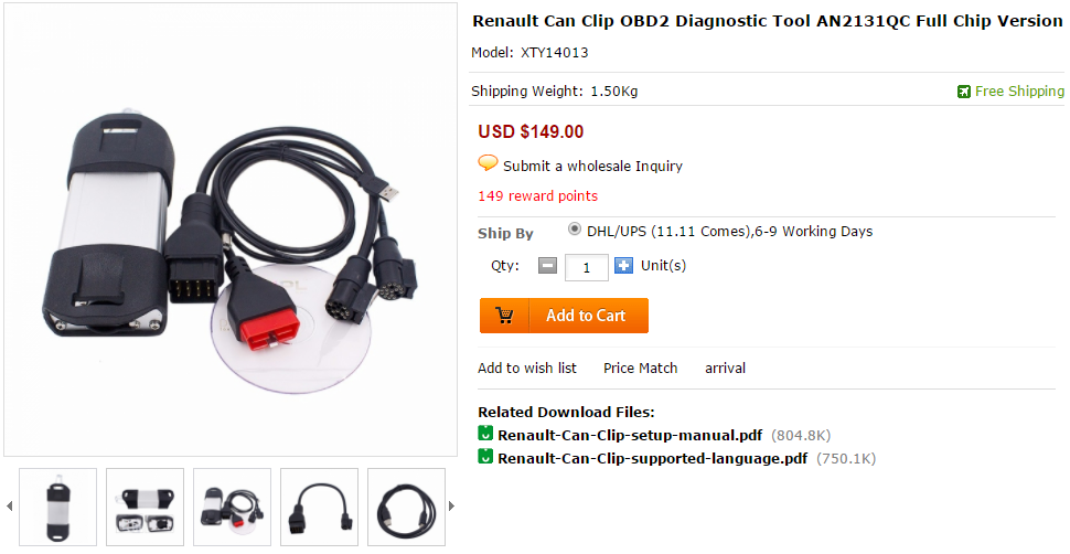 Renault CAN CLIP 172 download