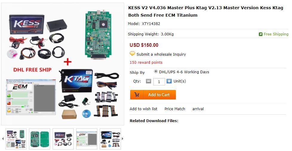 KESS V2 V4.036 Master Plus Ktag